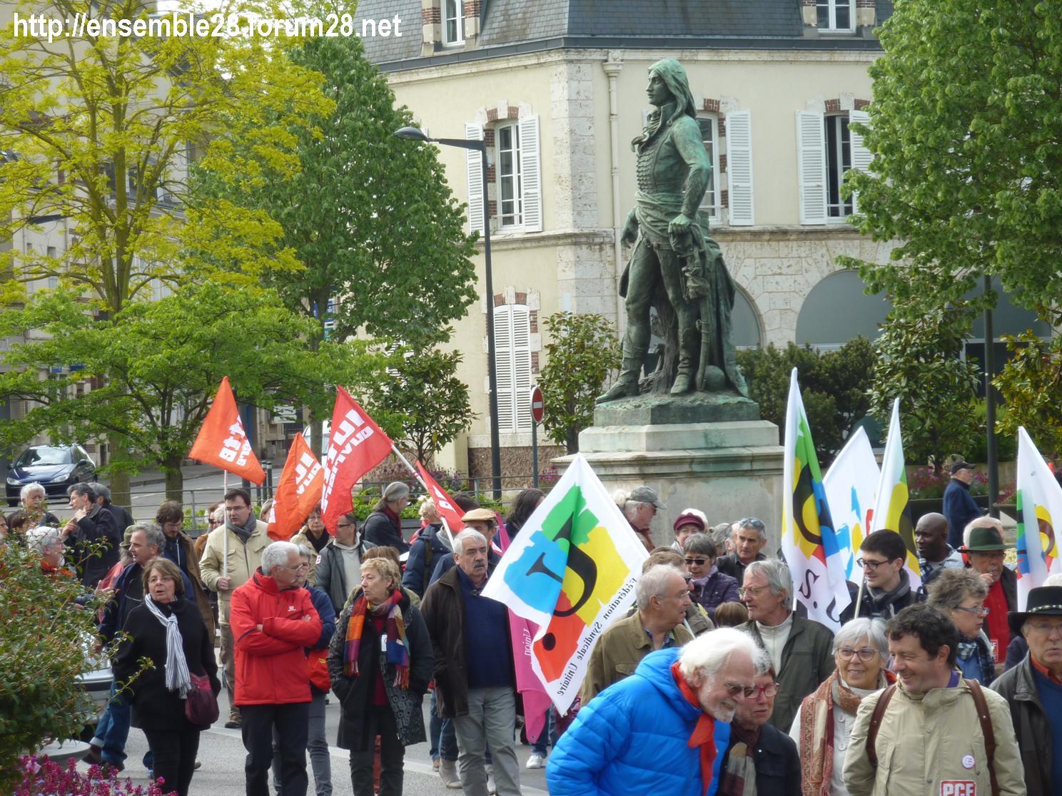 Chartres 1er-Mai-2018 Manifestation CGT FSU 06