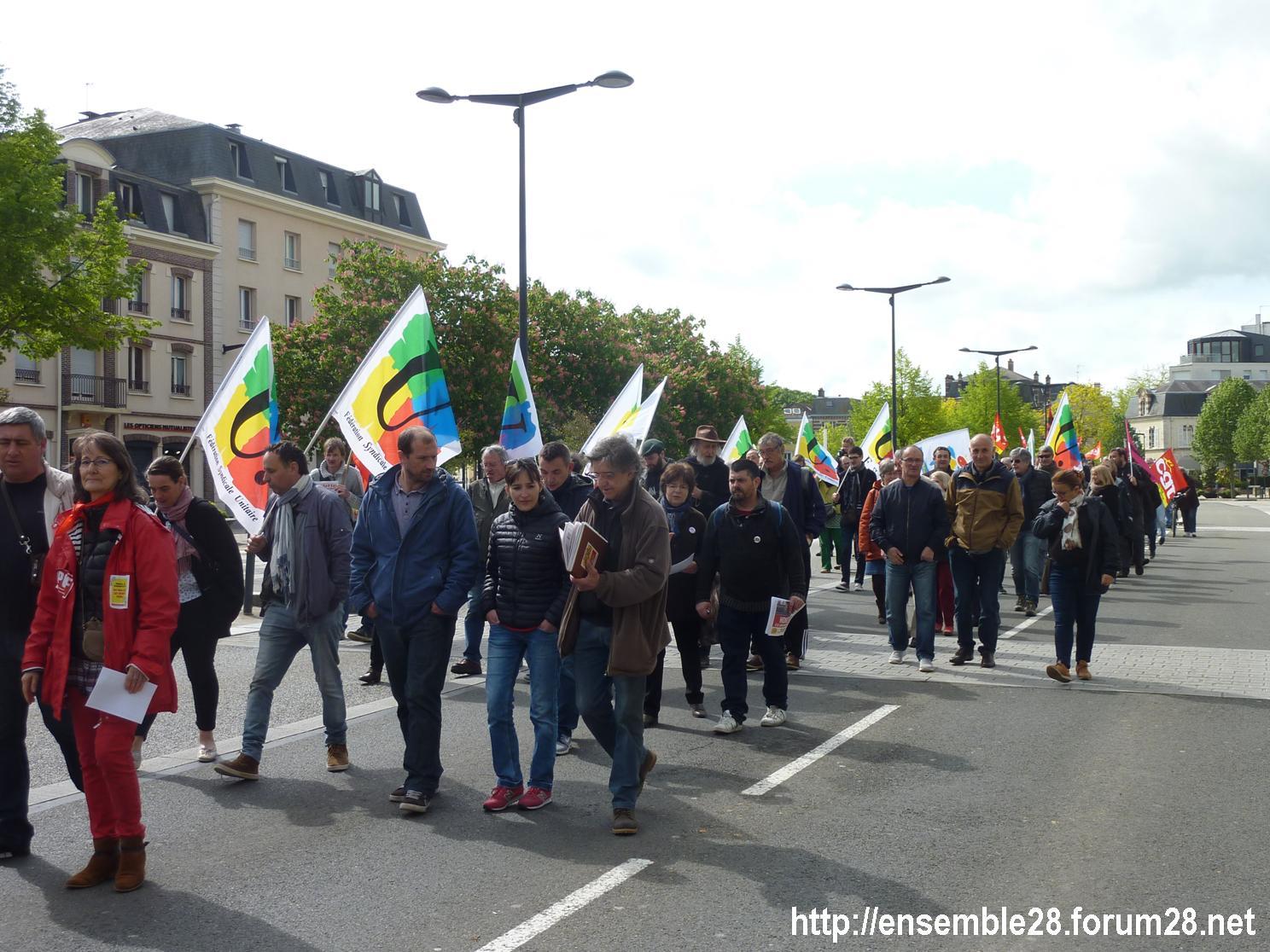 Chartres 1er-Mai-2018 Manifestation CGT FSU 07