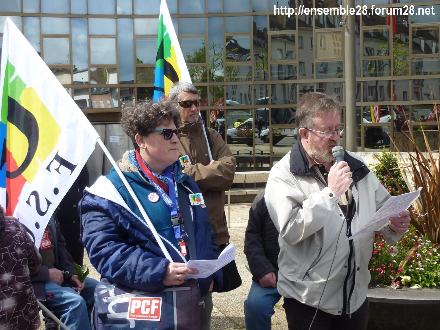 Chartres 1er-Mai-2018 Manifestation CGT FSU 09