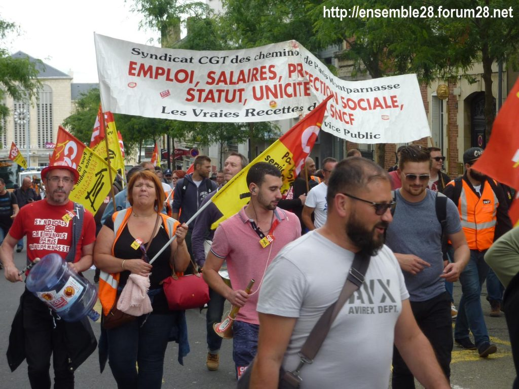 Chartres 18-06-2018 Manifestation CGT Cheminots 02