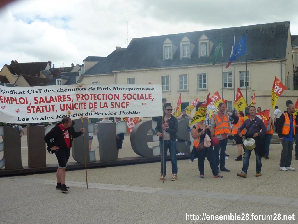 Chartres 18-06-2018 Manifestation CGT Cheminots 04
