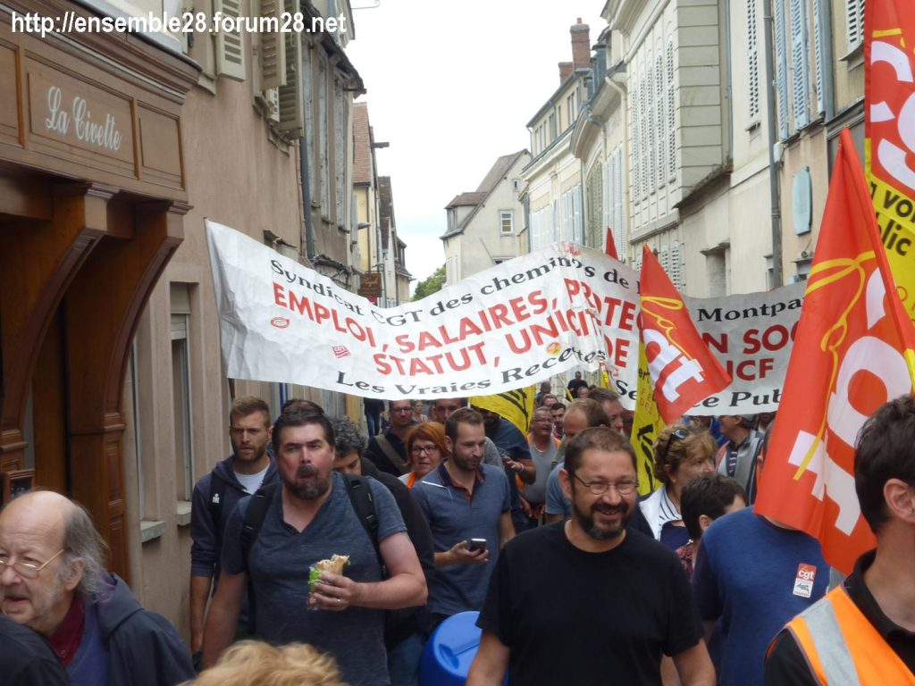 Chartres 18-06-2018 Manifestation CGT Cheminots 13