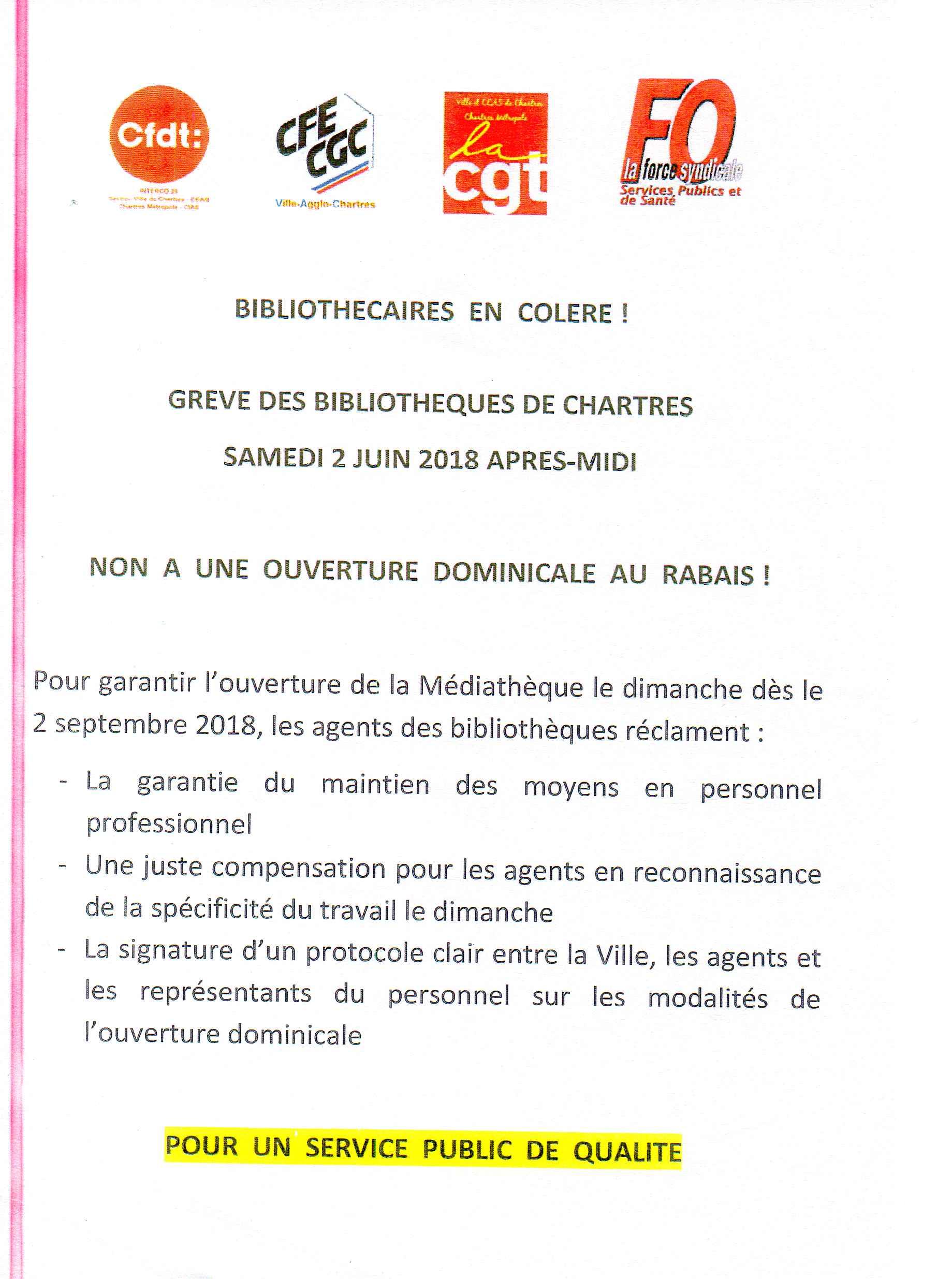 Tract Grève Médiathèque Chartres 02-06-2018234