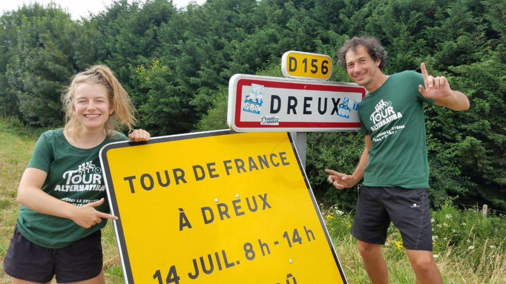 Alternatiba 2018 Dreux Tour de France Amélie et XX couleurs