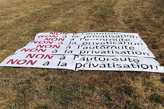 Champhol Non à la privatisation de la RN154 Tour-de-France-2018
