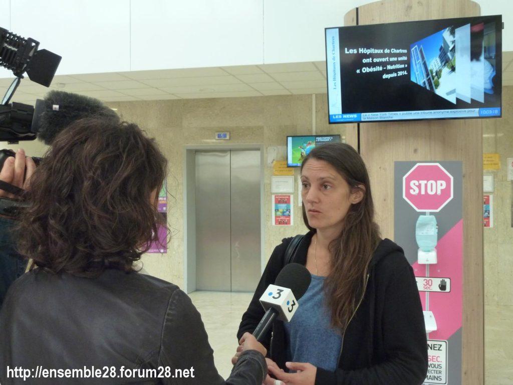 Chartres 06-09-2018 Hôpital Mineurs étrangers isolés Tests osseux Protestation CRSP28 Eure-et-Loir-Terre-d'Accueil 6