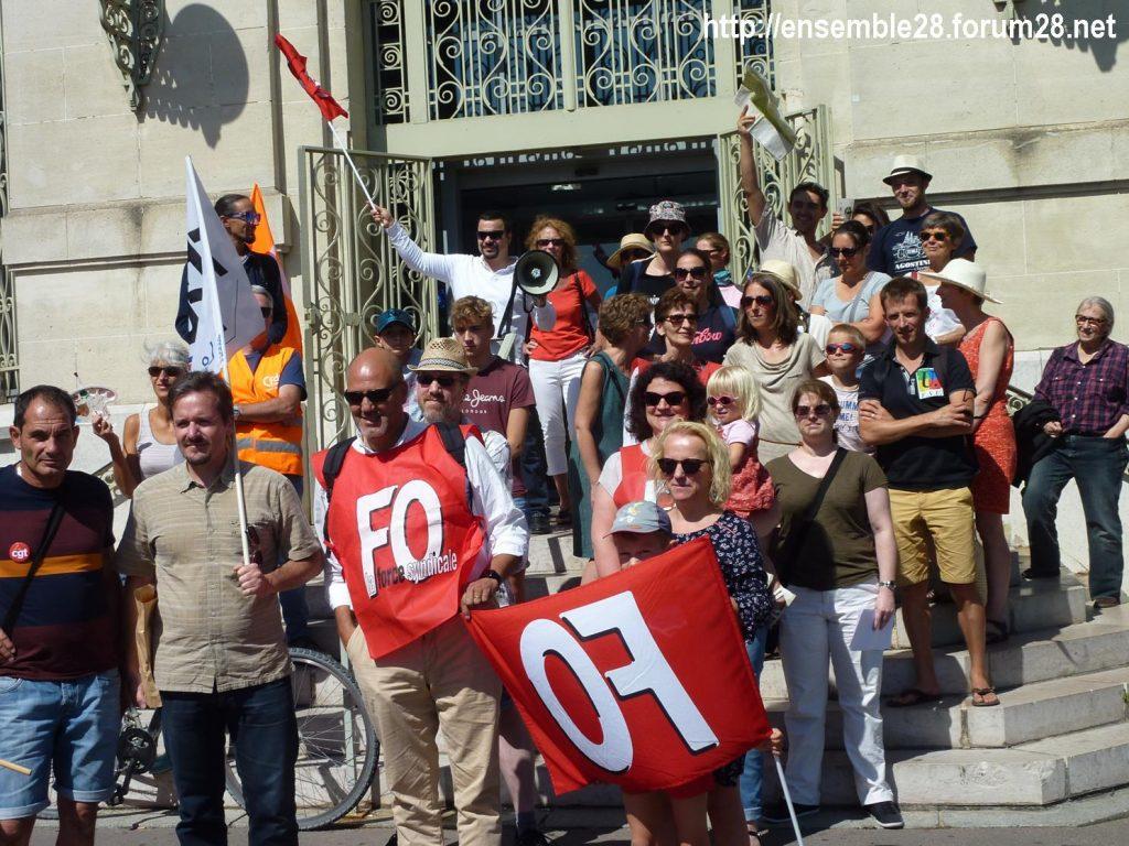 Chartres Médiathèque Apostrophe 02-09-2018 Rassemblement Intersyndicale 6