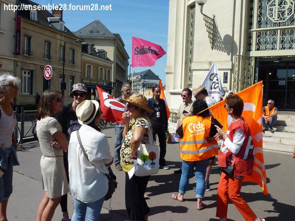 Chartres Médiathèque Apostrophe 02-09-2018 Rassemblement Intersyndicale 8
