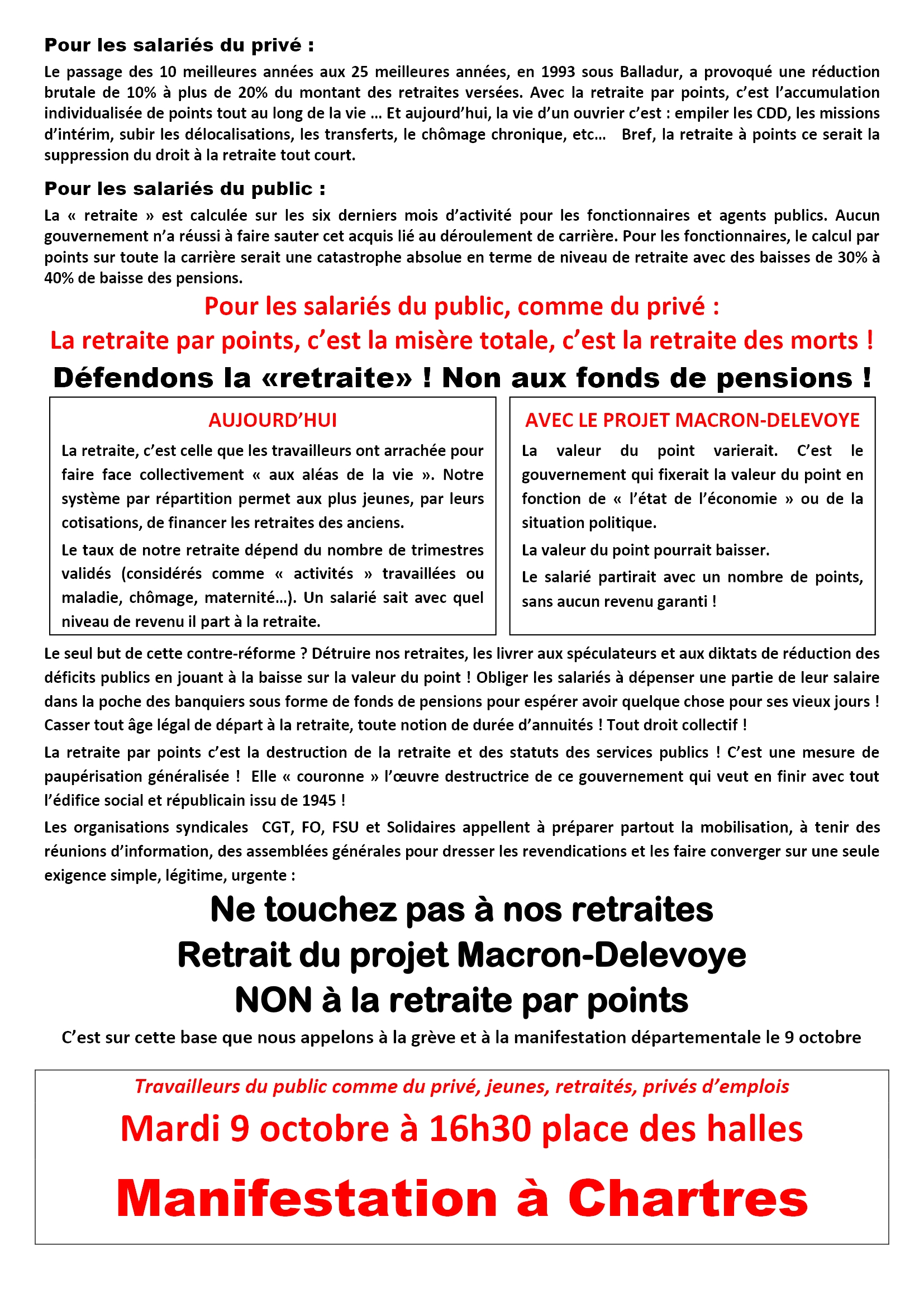 9 octobre 2018 Appel interpro Eure-et-loir Verso