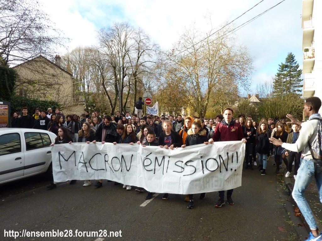 Chartres 04-12-2018 Manifestation Lycéens Parcoursup 03