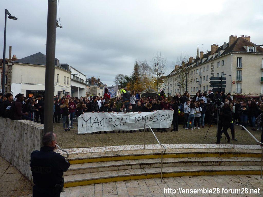 Chartres 04-12-2018 Manifestation Lycéens Parcoursup 11