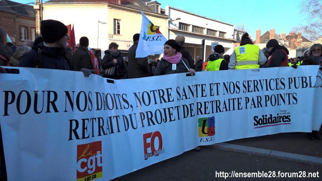 Chartres 14-12-2018 Manifestation CGT FO FSU Solidaires Gilets-Jaunes 04