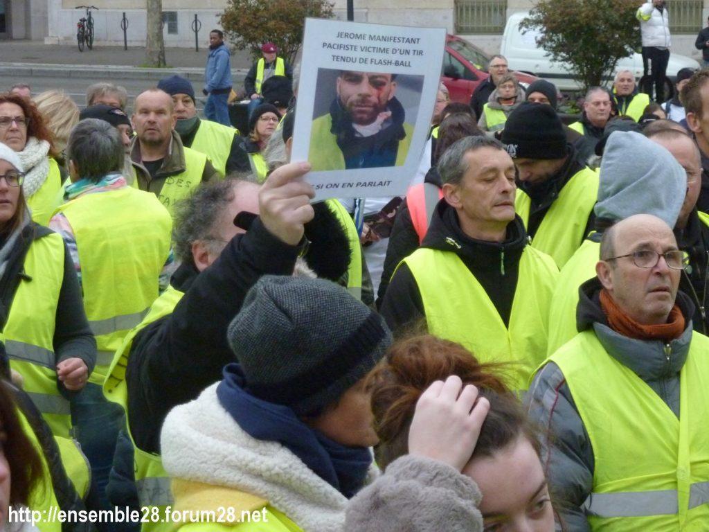 Chartres 12-01-2019 Manifestation Gilets-Jaunes 14