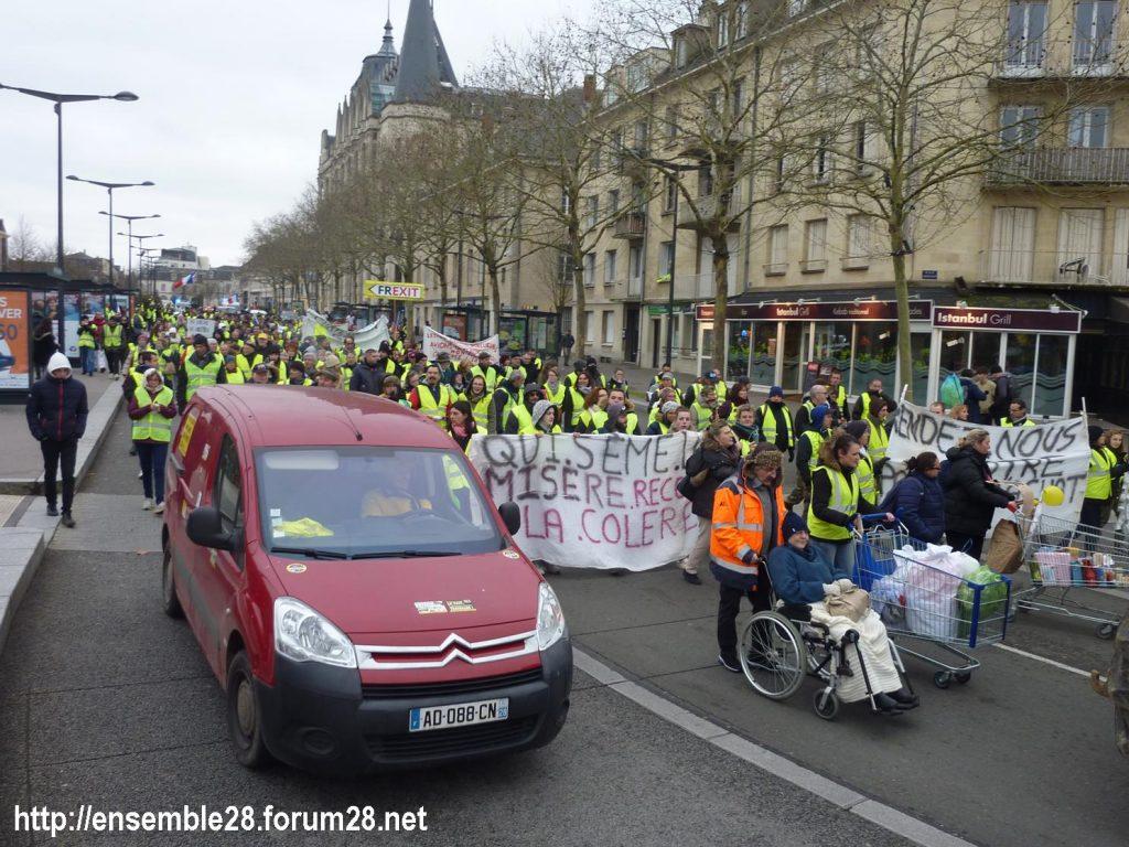 Chartres 12-01-2019 Manifestation Gilets-Jaunes 18