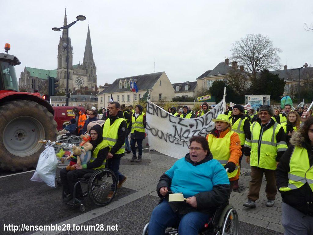 Chartres 12-01-2019 Manifestation Gilets-Jaunes 19