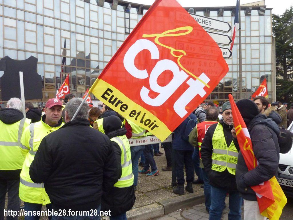 Chartres 05-02-2019 Manifestation CGT Gilets-Jaunes 01