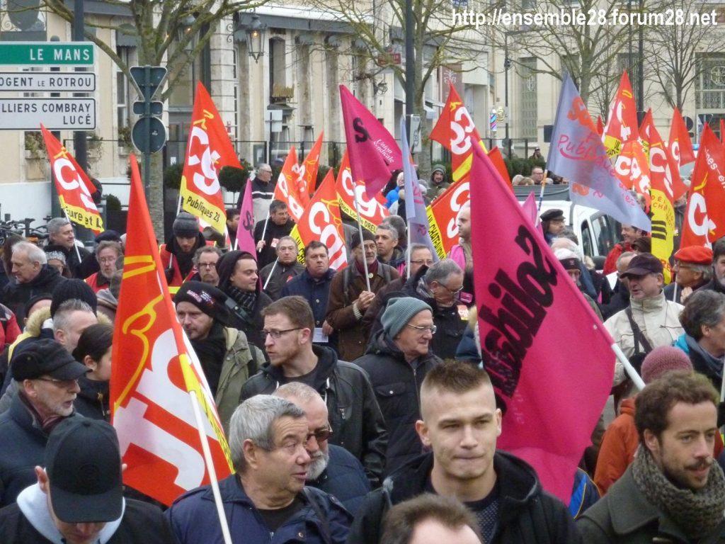 Chartres 05-02-2019 Manifestation CGT Gilets-Jaunes 06