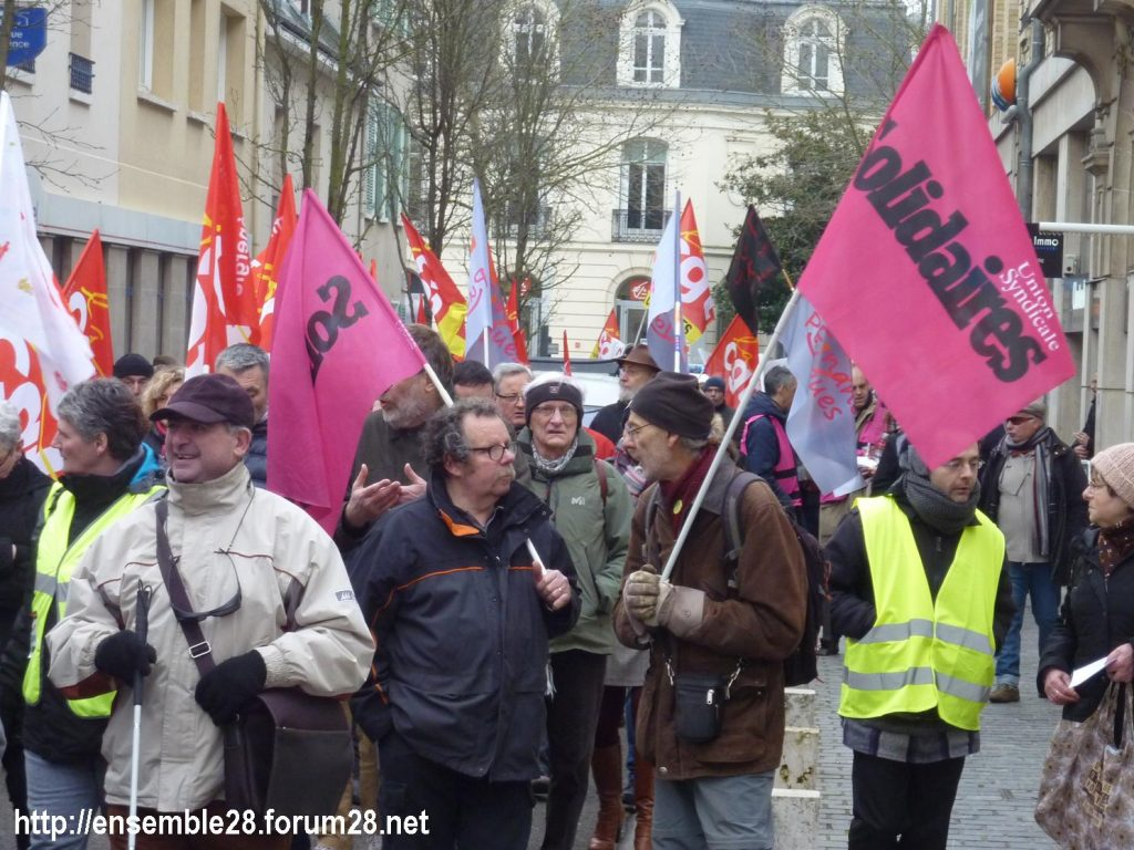 Chartres 05-02-2019 Manifestation CGT Gilets-Jaunes 10