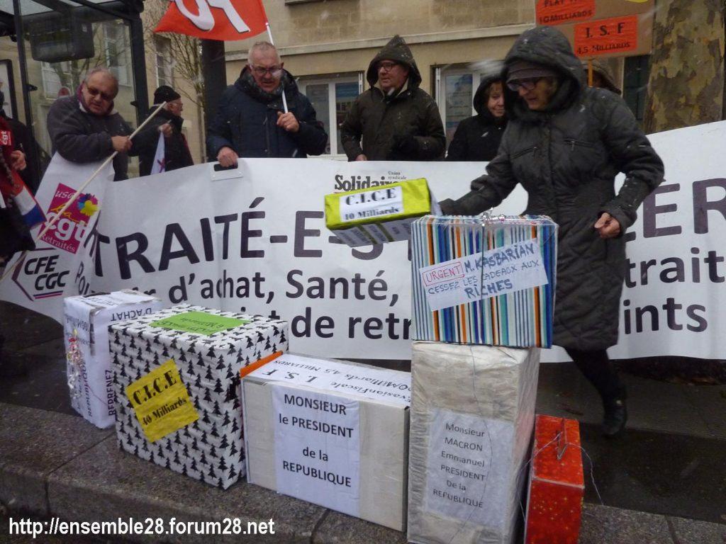 Chartres 31-01-2019 Rassemblement Intersyndicale Rétraités 07