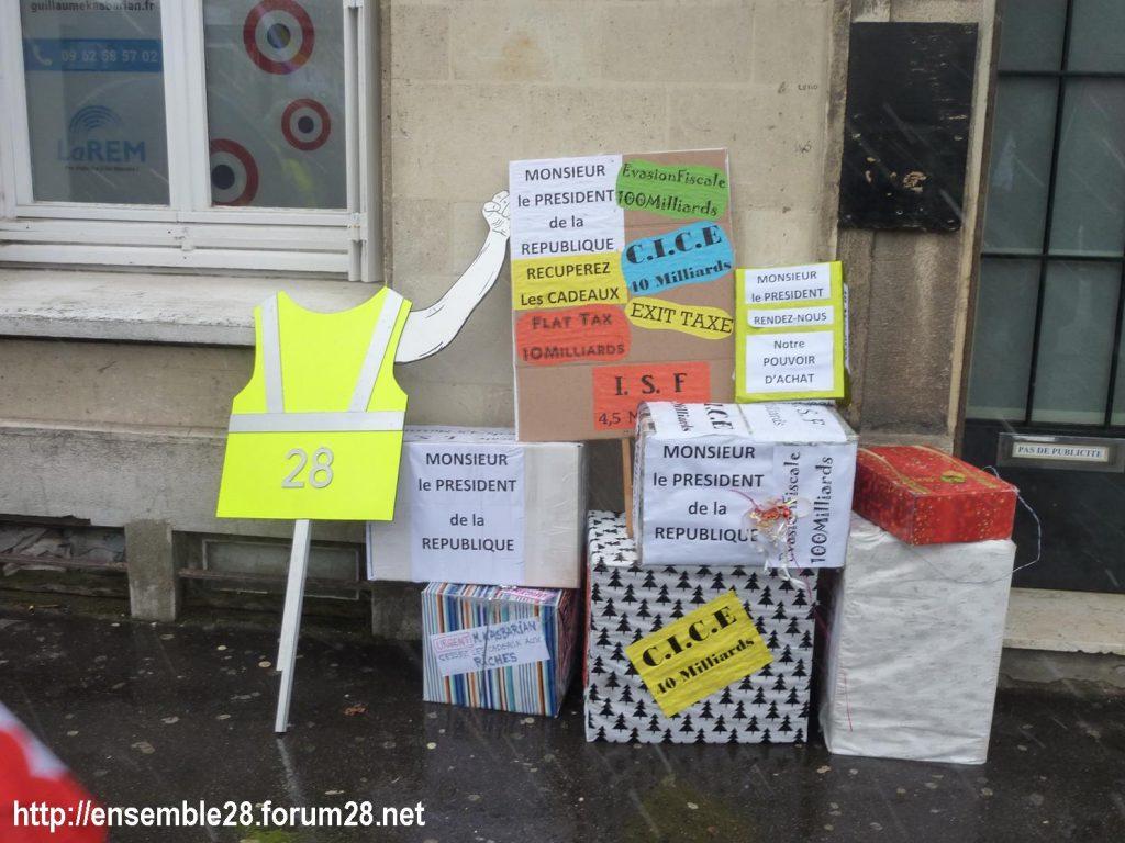 Chartres 31-01-2019 Rassemblement Intersyndicale Rétraités 08