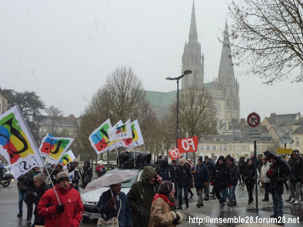 Chartres 31-01-2019 Rassemblement Intersyndicale Rétraités 09