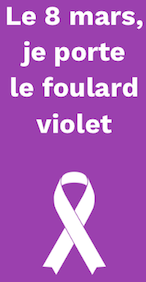 8 Mars 2019 Femmes Foulard violet