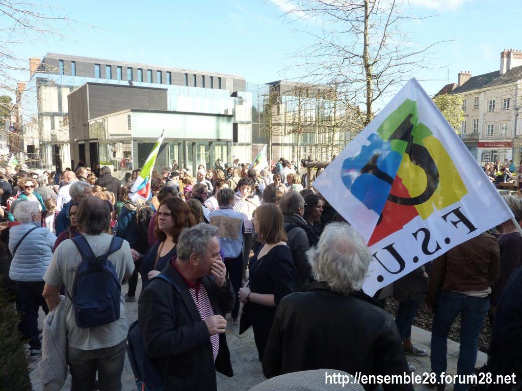 Chartres 19-03-2019 Manifestation Éducation Loi Blanquer 01