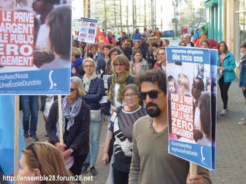Chartres 19-03-2019 Manifestation Éducation Loi Blanquer 09