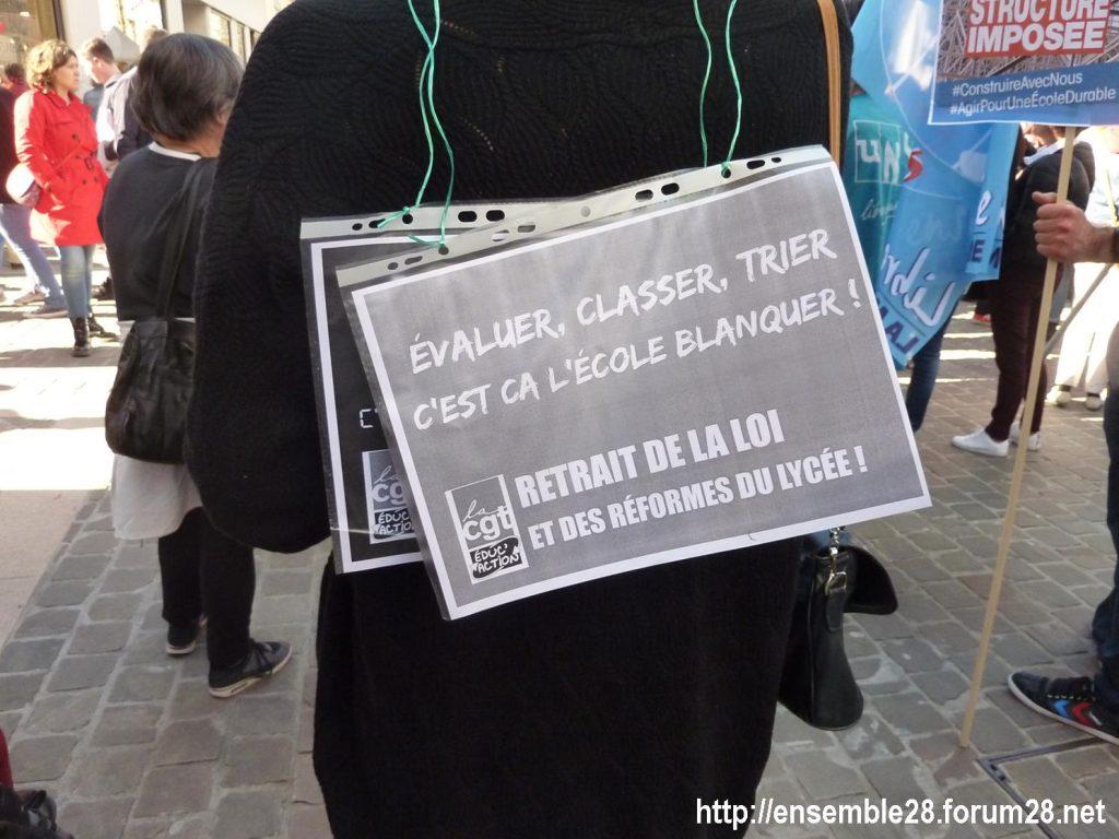Chartres 19-03-2019 Manifestation Éducation Loi Blanquer 10