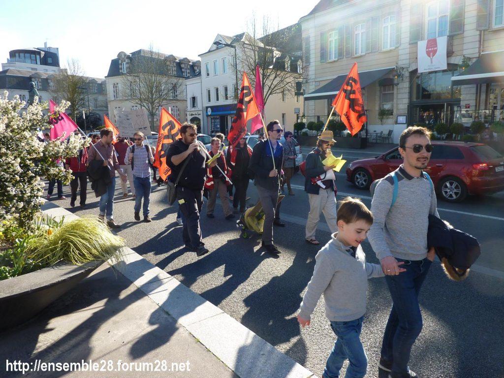 Chartres 19-03-2019 Manifestation Éducation Loi Blanquer 11