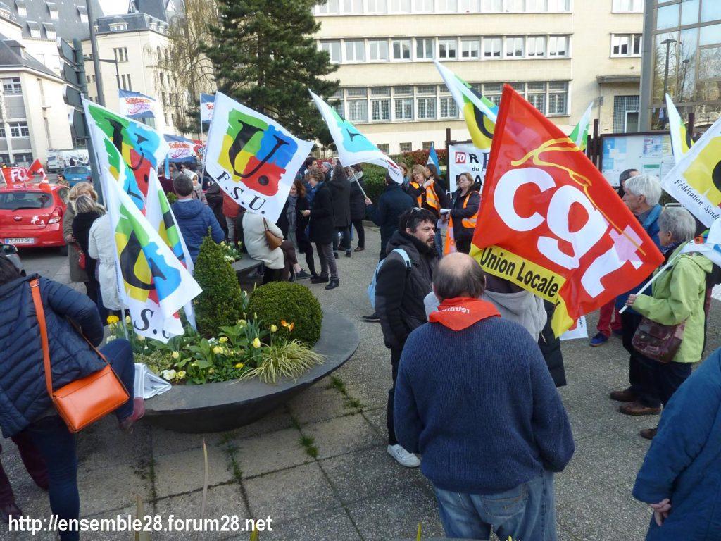 Chartres 27-03-2019 Fonction-publique Rassemblement Éducation Manifestation 02