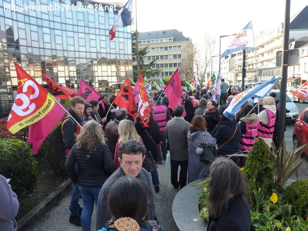 Chartres 27-03-2019 Fonction-publique Rassemblement Éducation Manifestation 04