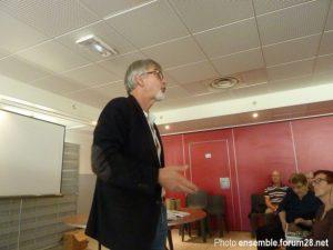 Christian Vélot en conférence à Cherisy