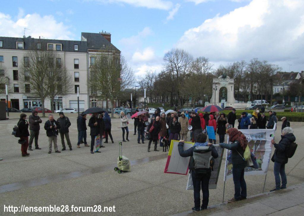 Chartres 03-04-2019 Manifestation AERéSP28 Mineurs-isolés-étrangers MIE MNA 05