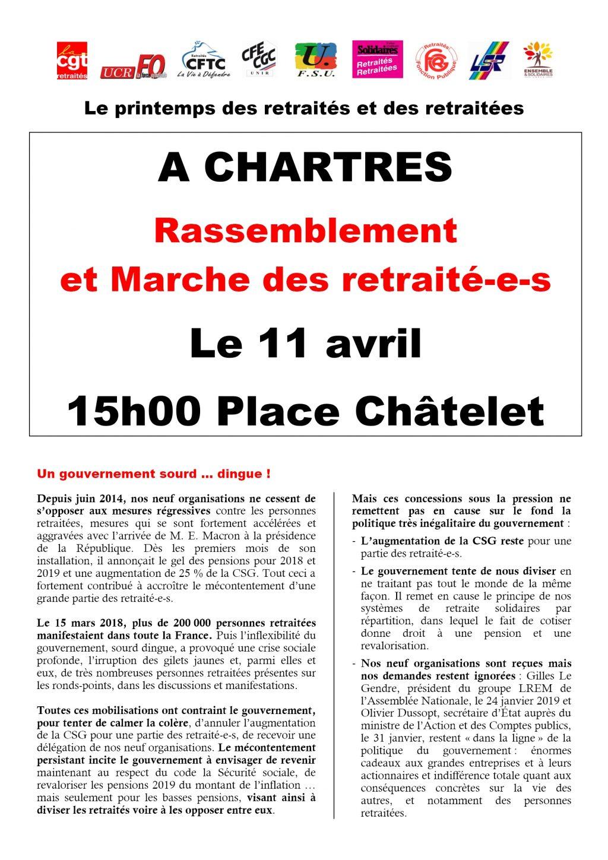 Retraités intersyndicale E&L Marche 2019-04-11 Tract 1x2