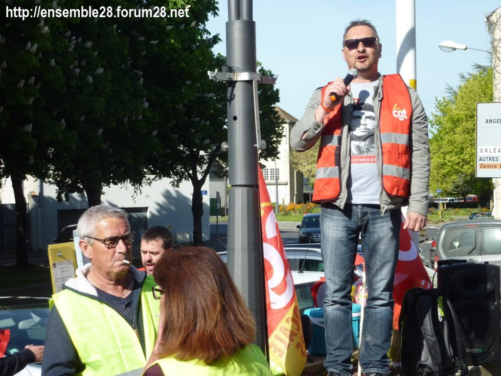 Toury Sucrerie Cristal-Union AG Pithiviers 16-05-2019 Rassemblement CGT 02