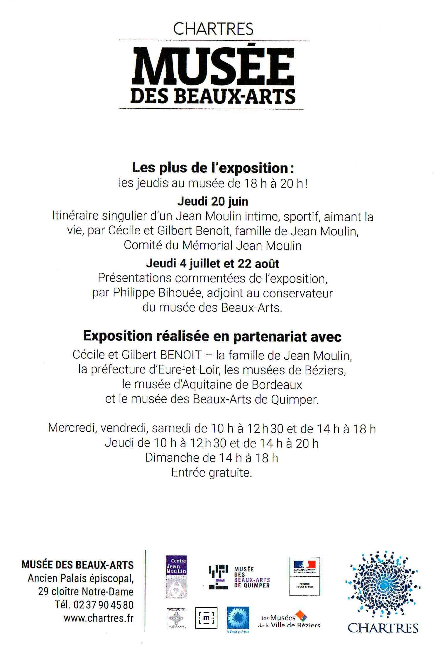 Expo Jean Moulin Artiste [Horaires]