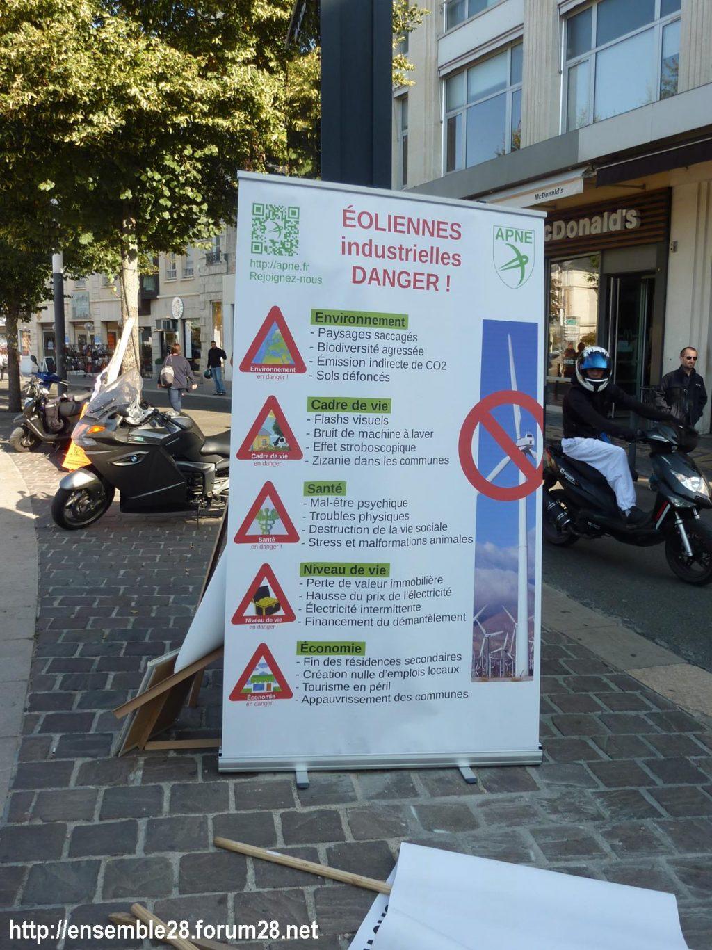 21-09-2019 Chartres Manifestation Anti-éoliennes industrielles 1