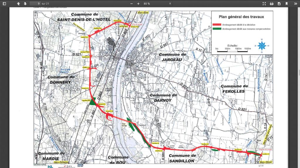 Déviation et pont sur la Loire 05 Plan DUT