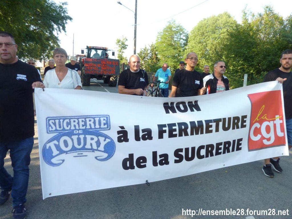 Toury 31-08-2019 Manifestation contre la fermeture de la sucrerie Cristal Union 06