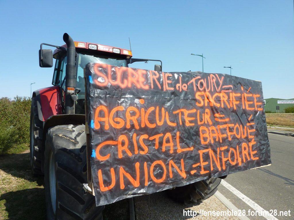Toury 31-08-2019 Manifestation contre la fermeture de la sucrerie Cristal Union 19