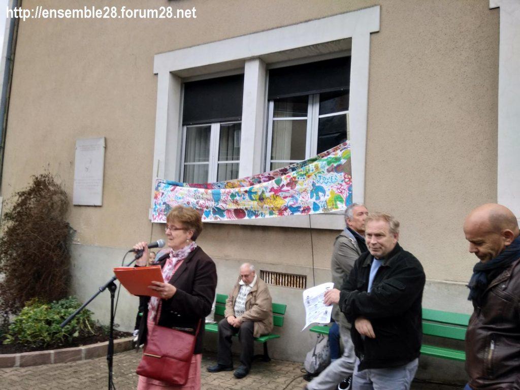 2019 10 17 Nogent-le-Rotrou ATD Refus misère Claudine micro- Franck- Plan rapproché 1