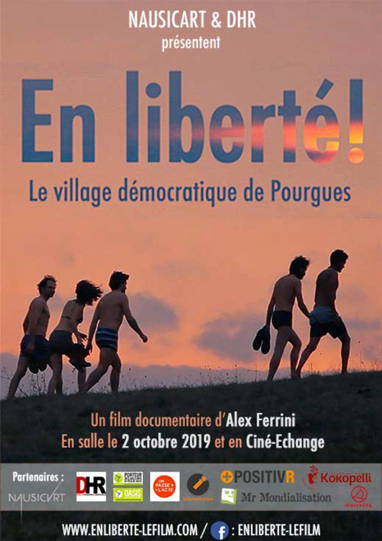 En liberté ! le village démocratique de Pourgues [Affiche]