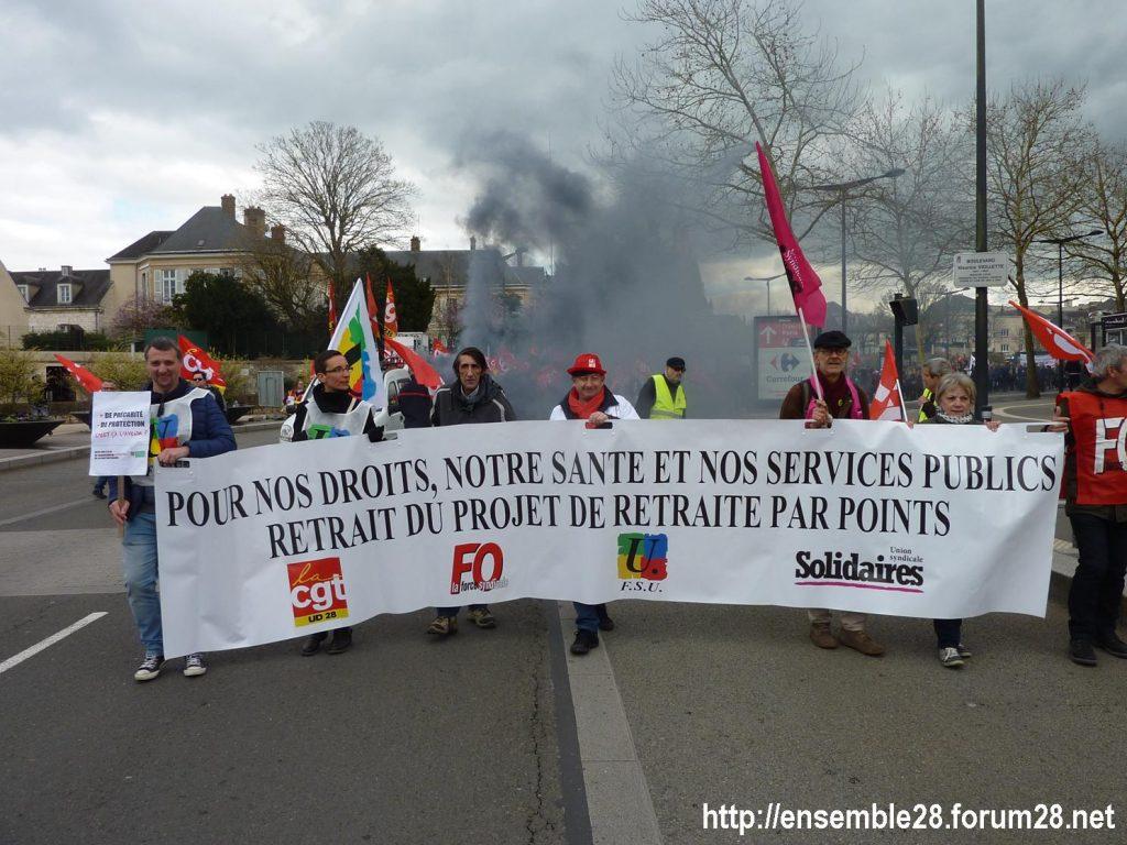 Chartres 19-03-2019 Manifestation Public-Privé XXX