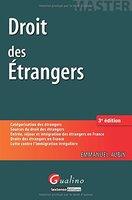 Droit des étrangers Emmanuel Aubin [Couverture]