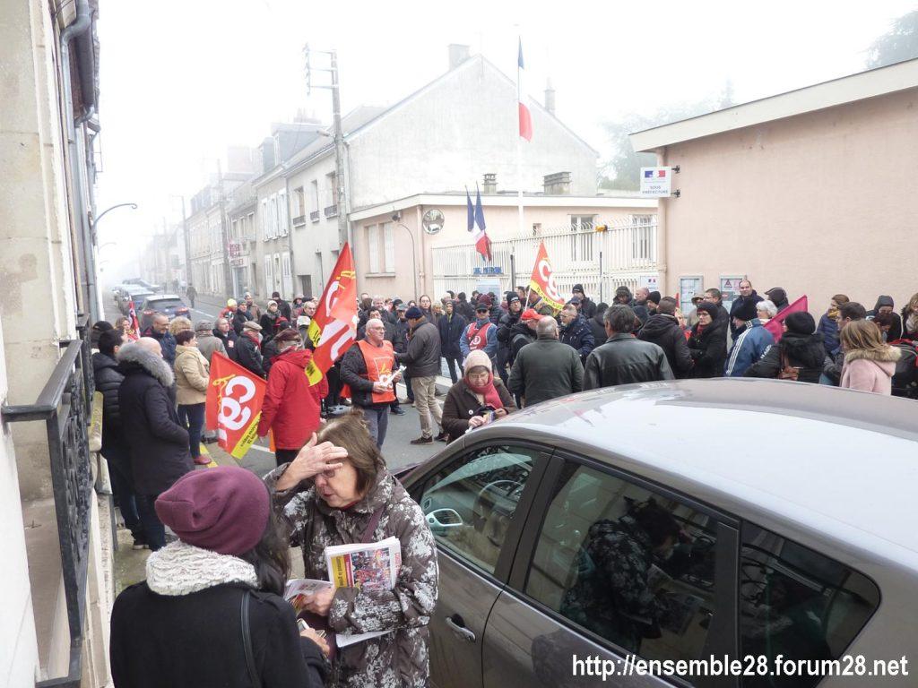 Châteaudun 05-12-2019 Manifestation Retraites 01