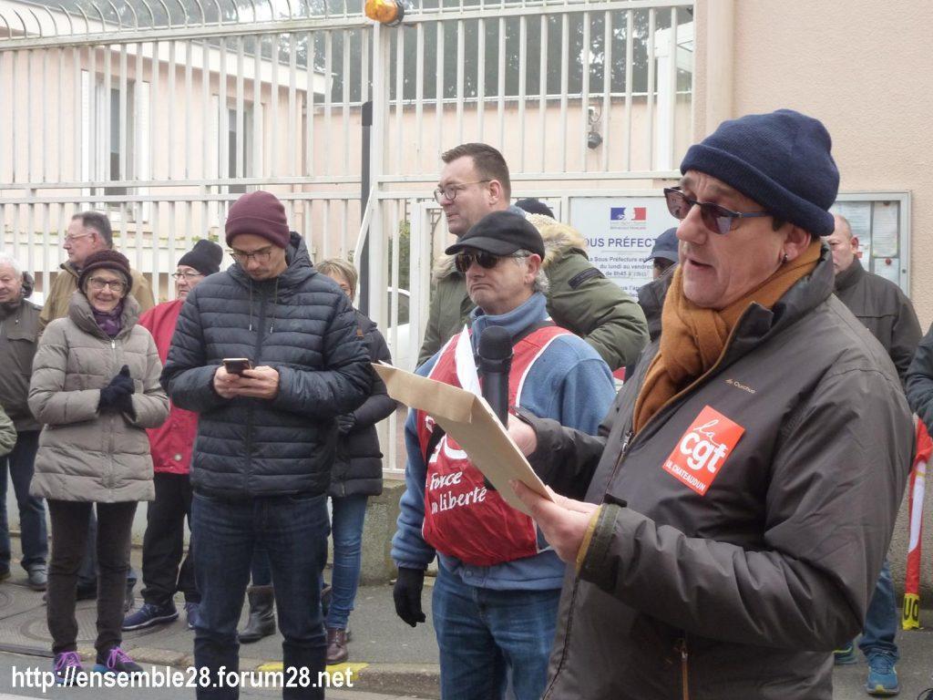 Châteaudun 05-12-2019 Manifestation Retraites 02