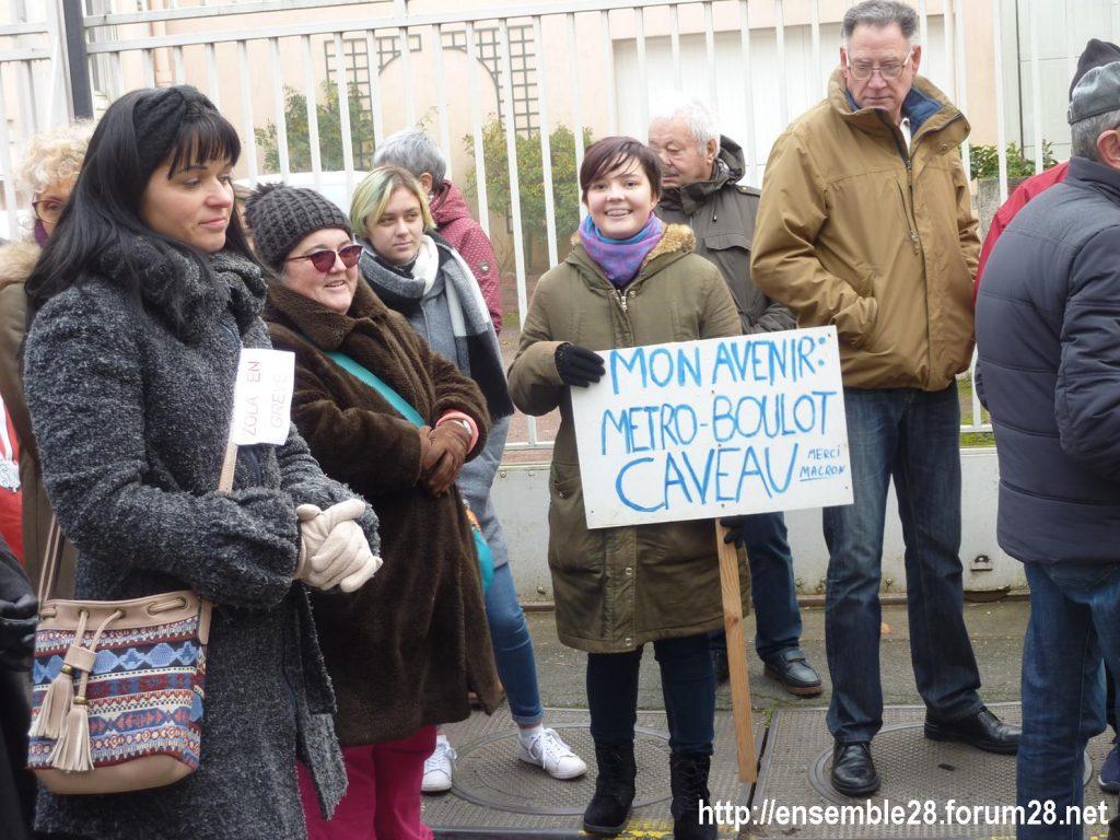 Châteaudun 05-12-2019 Manifestation Retraites 03