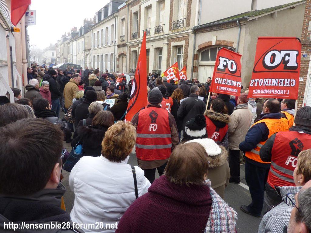 Châteaudun 05-12-2019 Manifestation Retraites 05