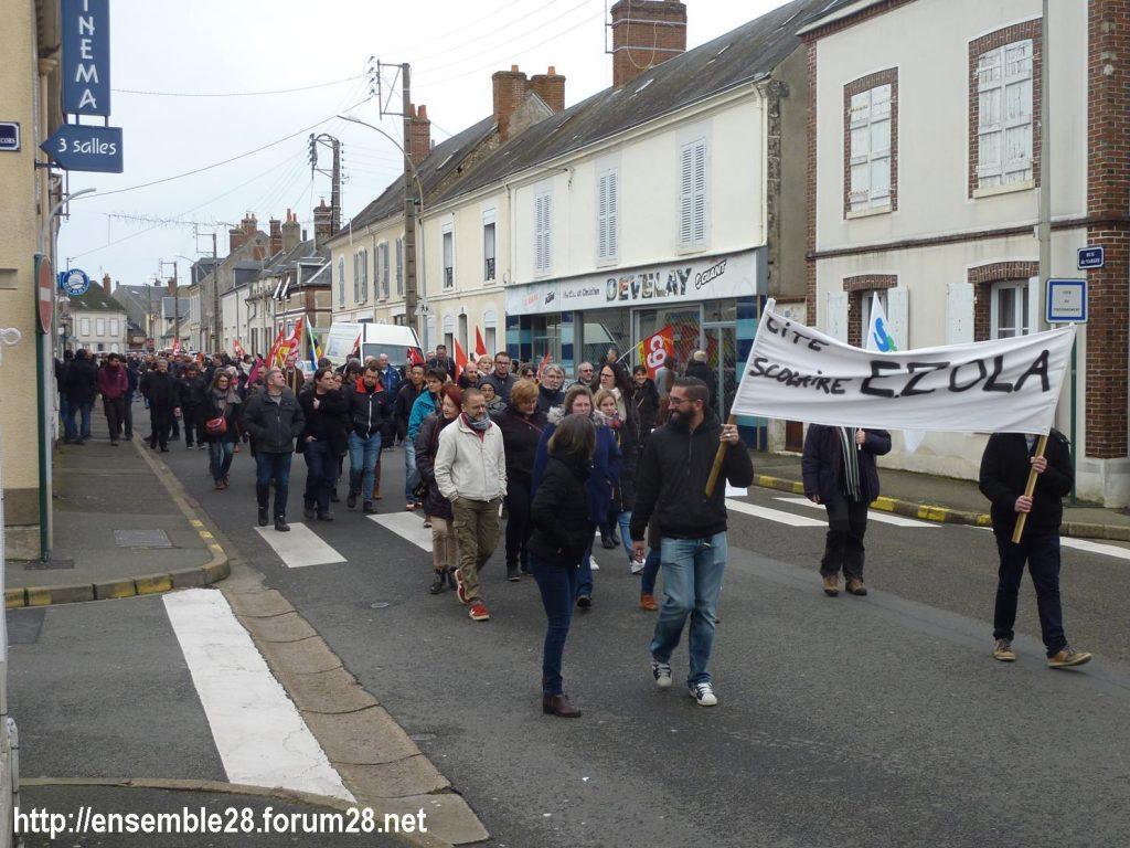 Châteaudun 17-12-2019 Manifestation Retraites 02